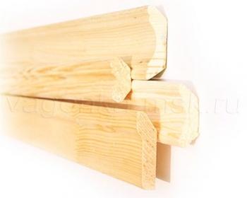 Плинтус потолочный деревянный хвоя без сучков 35 мм / 2-3 м